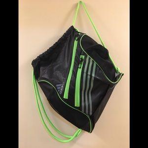 NWOT Adidas Drawstring Neon Bag